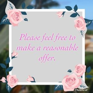 I accept reasonable offers. Let's make a deal!